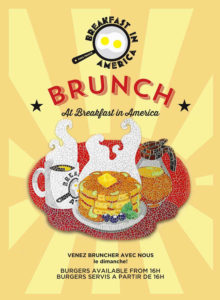 Breakfast  in America Brunch Menu